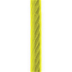 Wire Rope 6/19 G1570 Yellow  PVC 4-6mm
