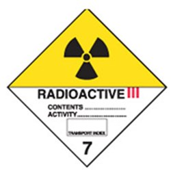 Radio Active III Safety Sign