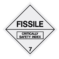 Fissile 7 Safety Sign