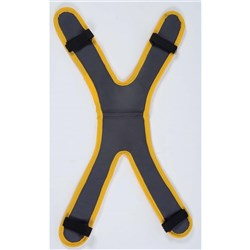 X Shape Shoulder Pad Removable Fits Over Shoulder And Down Back Straps