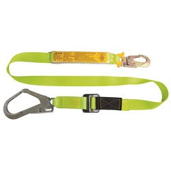B-Safe Shock Absorbing Lanyard with Adjustable Webbing - 2m