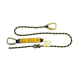B-Safe Shock Absorbing Lanyard with Kernmantle Rope and Karabiners - 1.2m