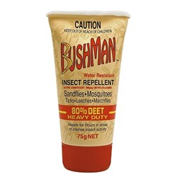 Bushmans Heavy Duty Ultra Gel 80% Deet Repellent 75g Tube Pack
