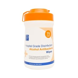 Alcohol Antibacterial Wipes Premier 14x42 cm Tub 75