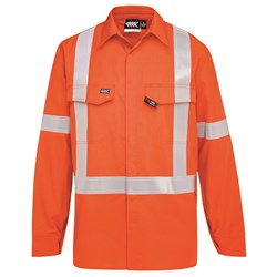 Boomerang Hi-Vis FR Button-Up Shirt with Reflective Tape PPE1