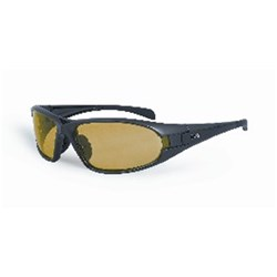 Frontier Edge Safety Spec, Amber Lens Grey Frame