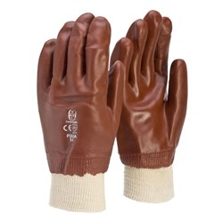 Frontier Red PVC 27cm Knit Wrist Glove