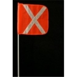 1.5 Flagstaff Heavy Duty Flag Reflective White Cross