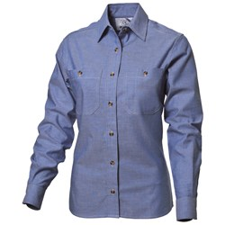 WS Workwear Womens Chambray Button-Up Shirt