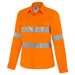 Shirt - Womens Long Sleeve High Vis Hoop Taped