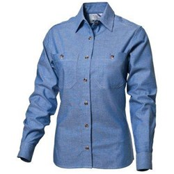 WS Workwear Womens Chambray Button-Up Shirt -Size 18