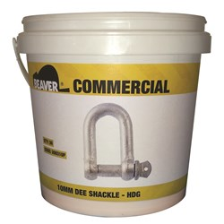 Beaver Hot Dipped Galvanised Commercial Dee Shackles (Pail)