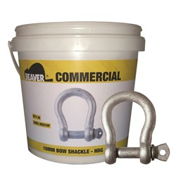 Beaver Hot Dipped Galvanised Commercial Bow Shackles (Pail)