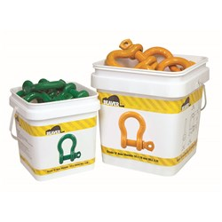 Beaver Colour Coded Screw Pin Bow Shackles (Pail)
