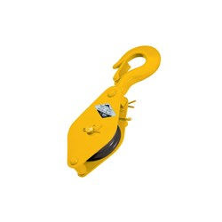 Beaver Single-Hand Operated Sheave Blocks with Swivel Hook