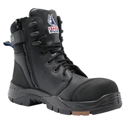 Steel Blue Torquay Zip Sided Safety Boot with Composite Toecap