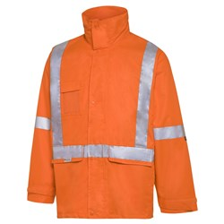 WS Workwear Hi-Vis 6-in-1 Waterproof Jacket with H-X-Reflective Tape