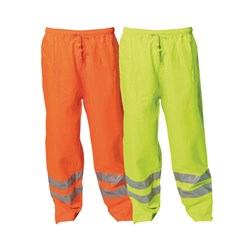 WS Workwear Hi-Vis Waterproof Trousers with Reflective Tape