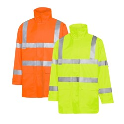 WS Workwear Hi-Vis Chicago Waterproof Jacket with H-Reflective Tape
