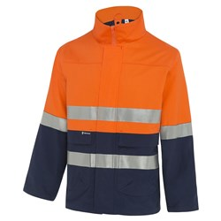 4 In 1 Mid Weight Cotton Jacket With Reflective Tape 2 rows