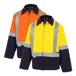 WS Workwear Hi-Vis Bluey Jacket with H-Reflective Tape
