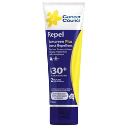 Cancer Council Sunscreen 30+ Repel 110ml Tube