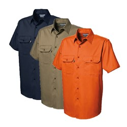 WS Workwear Mens Button-Up Shirt