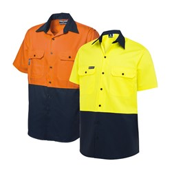WS Workwear Koolflow Mens Button-Up Shirt