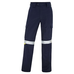 WS Workwear Mens Drill Cargo Pants with Reflective Tape