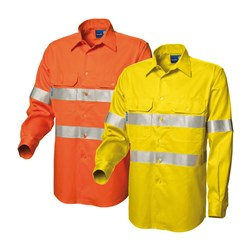 WS Workwear Koolflow Mens Hi-Vis Vented Shirt with Reflective Tape