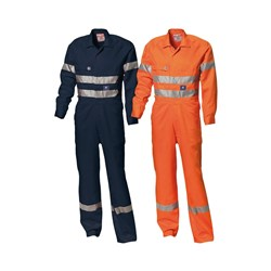 Cotton Heavy Weight Long Sleeve  Overall - 1 Row Reflective Tape
