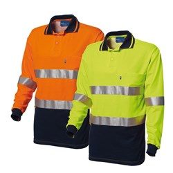 WS Workwear Mens Hi-Vis Polo Shirt with Reflective Tape
