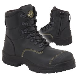Oliver 55-245Z Zip Sided Safety Boots with Scuff Cap
