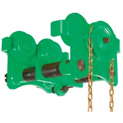 Girder Trolley Beaver Geared  Green 88-203mm 2t