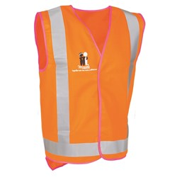 Mcgrath Foundation Safety Vest Orange. c/w Pink Piping