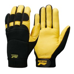 Contego Winter Golden Yellow/Black Grip Tab Glove
