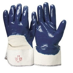 Blue Full Dip Nitrile on Cotton Frontier Glove