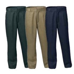 Mens Heavy Weight Pleat Front Drill Trousers