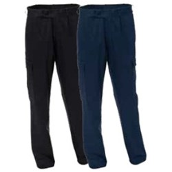 Mens Heavy Weight Cargo Pocket Drill Trousers