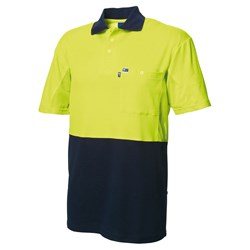 Short Sleeve Cotton Back Polo Shirt With Mesh Underarm