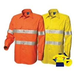 Mens Long Sleeve High Vis Vented and Taped Shirt