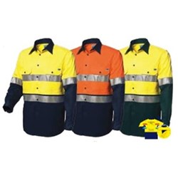 Worksense Summer Weight Koolflow Cotton Drill Shirt with REF Tape