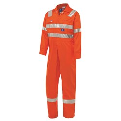 WS Workwear Hi-Vis Drill Coverall with Reflective Tape