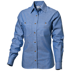 Ladies Long Sleeve Chambray Shirt
