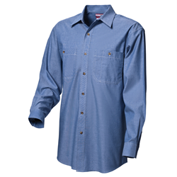 Mens Long Sleeve Chambray Shirt