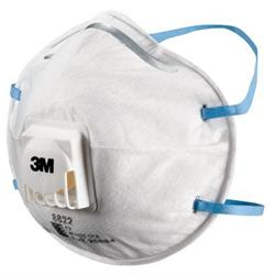 3M Disposable Respirator 8822 Valved P2