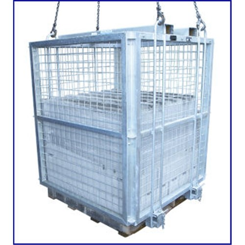 Brick Cage 2000kg Galvanised Flatpack Bunzl Safety