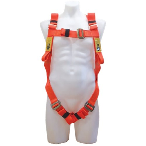 B-Safe Full Body Harness in Fluro Orange With 1.5M Shock-Absorbing Lanyard