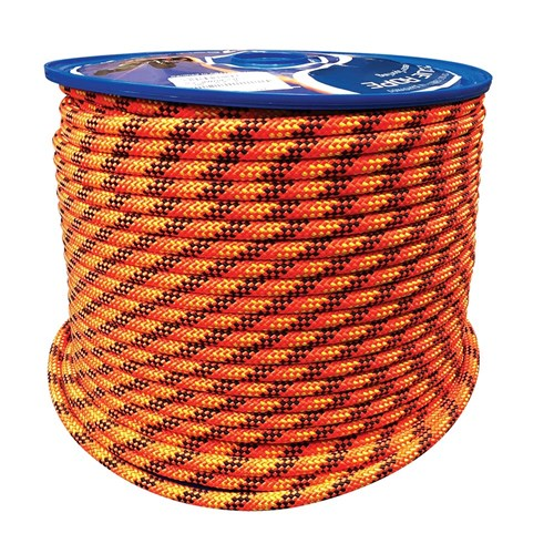 13mm Static Kermantle Rope Orange With Black Speck