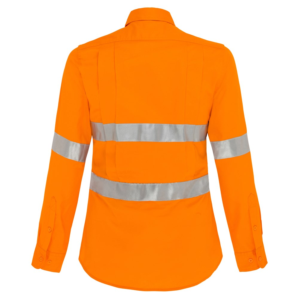 Ws Workwear Koolflow Womens Hi Vis Shirt With Reflective